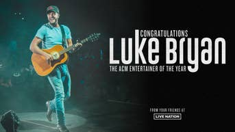 Congratulations to Luke Bryan on being named the ACM Entertainer of The Year!