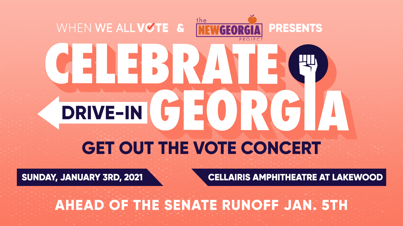 """Michelle Obama's When We All Vote Teams Up with New Georgia Project, Live Nation Urban and More to Host Drive-In GOTV Concert """"Celebrate Georgia!"""""""