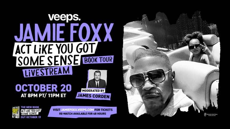 Jamie Foxx Book Tour Livestream - Get Tickets Now!