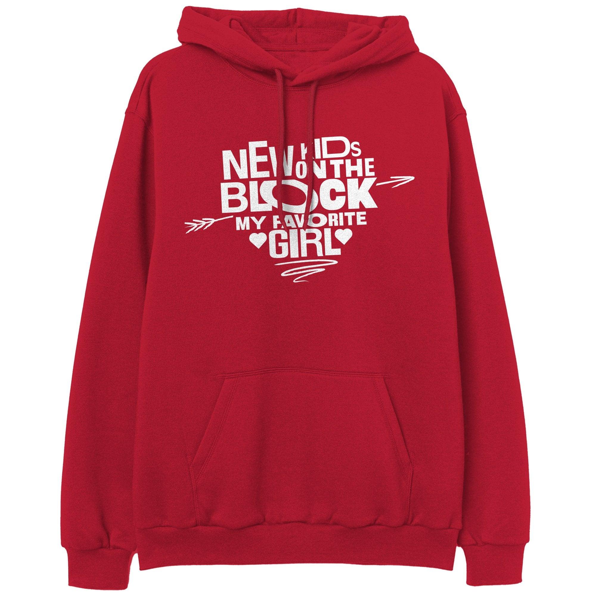 NKOTB Favorite Girl Red Pullover Hoodie