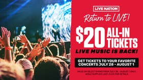 Return To Live $20 All In Tickets