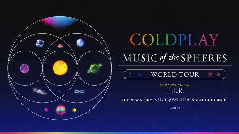 Coldplay's 2022 World Tour - Register for Verified Fan Now!